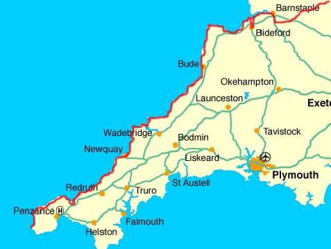 Lands End England Map.Lejog Walk Land S End To Barnstaple Map